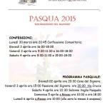 2015 programma pasqua